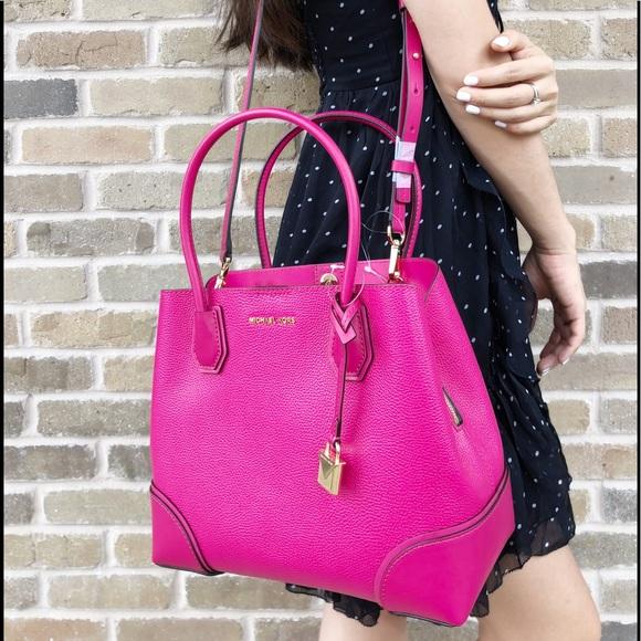 a1a378106888 Michael Kors Bags | Mercer Corner Med Satchel Ultra Pink | Poshmark